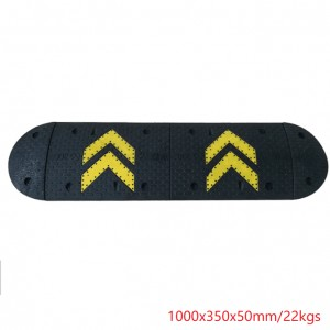 Road Safety Any Sizes High Reflective Rubber Speed Bumps ,Speed Hump