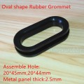 oval shape silicone rubber grommet assemble hole 20 x45mm
