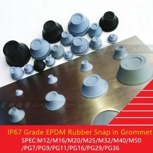 IP67 grade TPE EPDM rubber cable grommet waterproof dustproof snap in grommet push in sleeve
