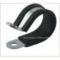 rubber clamp/rubber lined pipe clamp/pipe clamp with rubber/rubber hose clamp/hanging clamp with rubber/rubber hose clamp