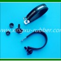 rubber clamp/rubber lined pipe clamp/pipe clamp with rubber/rubber hose clamp/hanging clamp with rubber