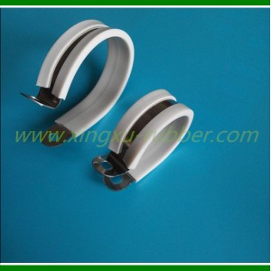 White Rubber Clamp White Hose Clamp White Cushion Clamp